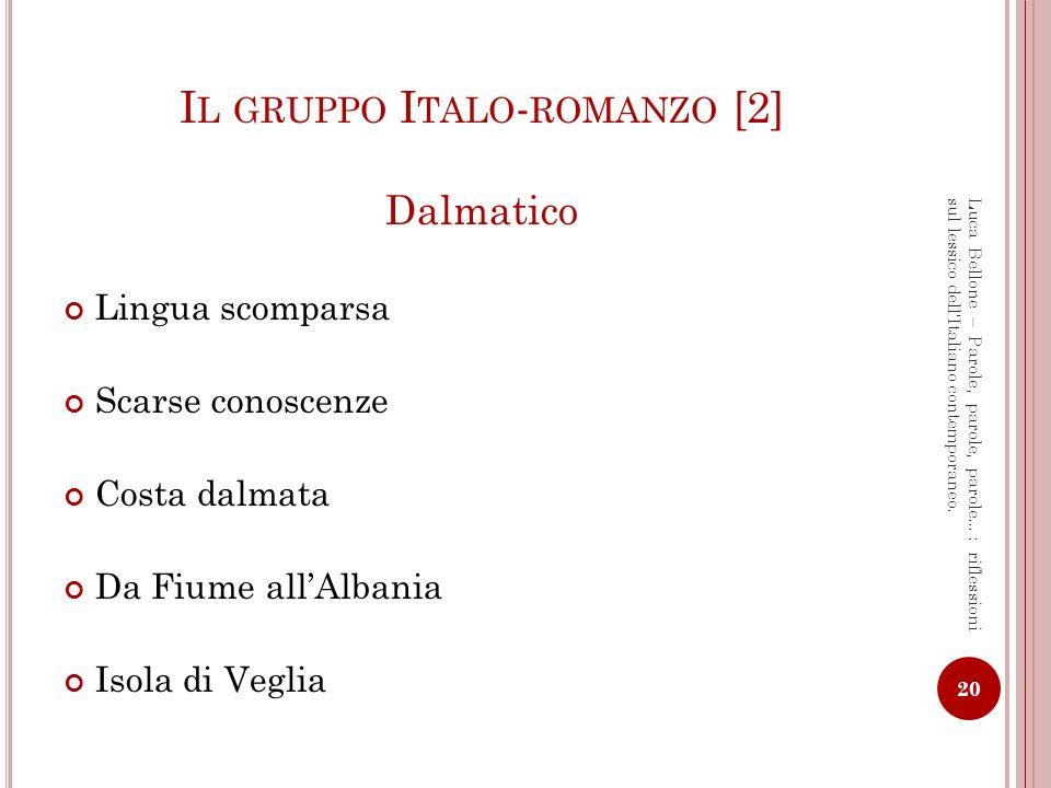 Il gruppo Italo-romanzo [2]